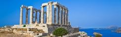 De tempel van Poseidon op Kaap Soenion