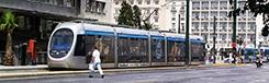 Met de tram in Athene