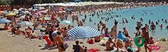 Stranden in de buurt van Athene