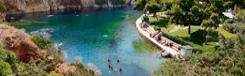 Zwemmen in het meer van Vouliagmeni